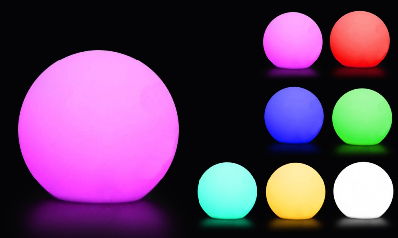 LED Mood Light, Colour Changing Ball Lamp, Rechargeable ...